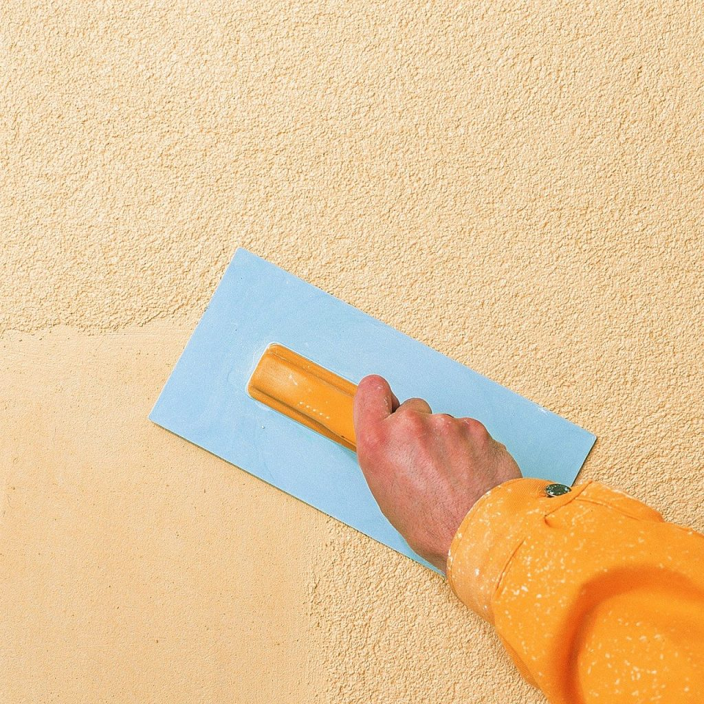 технология декоративной штукатурки стен