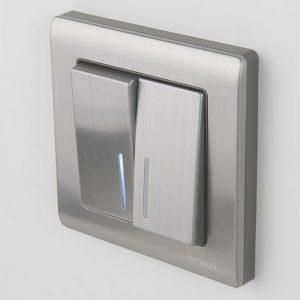 Двойной выключатель — виды, устройство, особенности выбора и варианты подключения выключателя