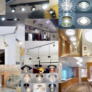 Точечные светильники для натяжных потолков — выбор, монтаж и подключение лучших светильников (90 фото)